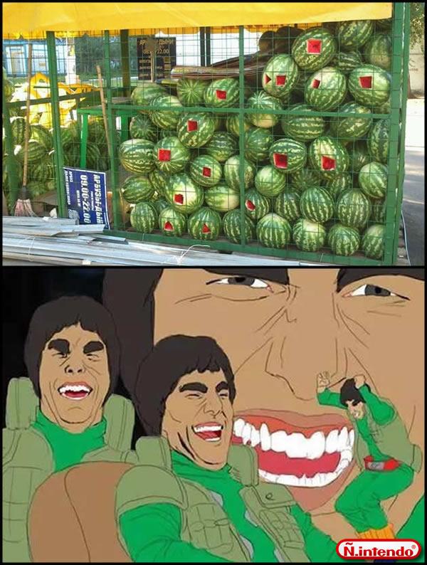 Tirinhas memes Melancia