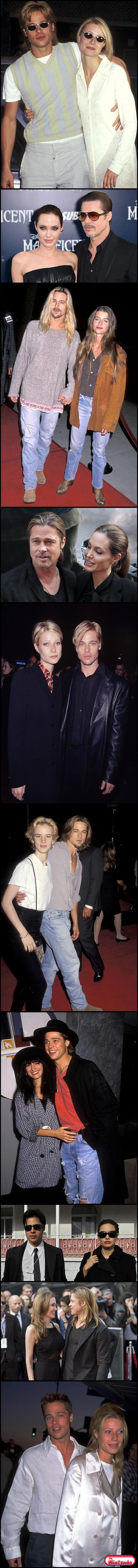 O Brad Pitt Gosta De Combinar Com Suas Namoradas