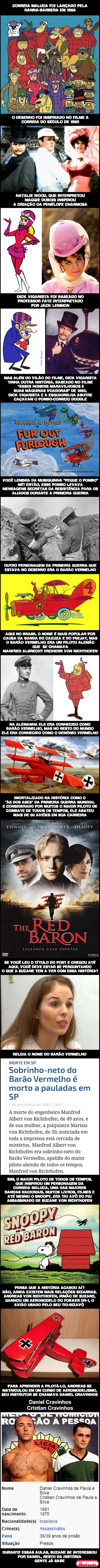 Corrida Maluca, Primeira Guerra e Suzane von Richthofen